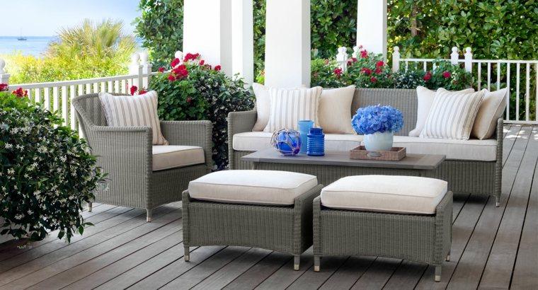 muebles modernos terraza color gris oscuro ideas