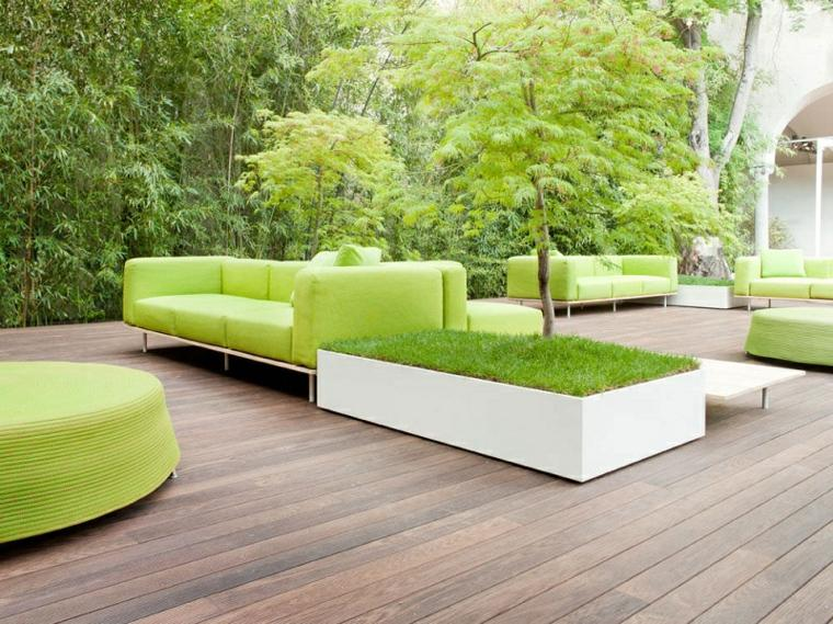 muebles color verde