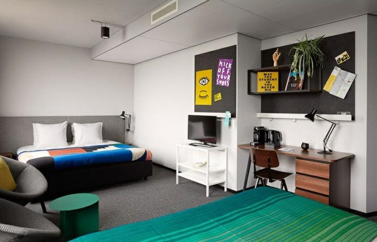 muebles vista habitacioes espacios acentos paredes