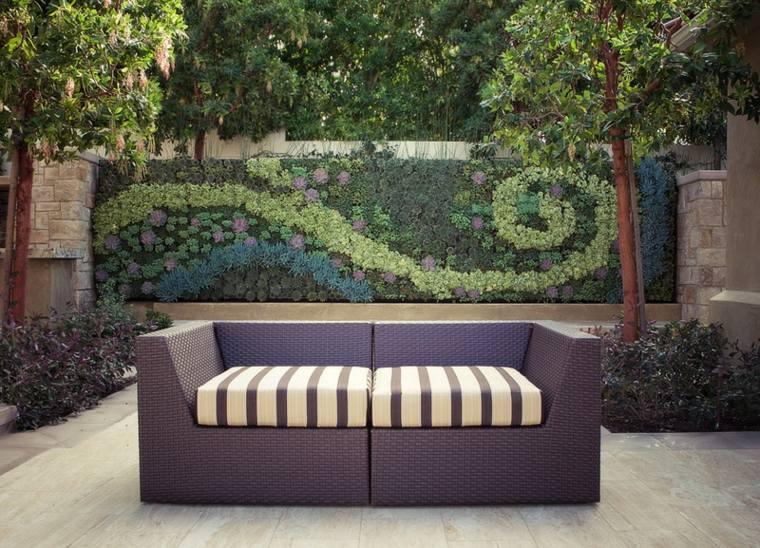 muro vivo vertical jardines imagenes sillones patios