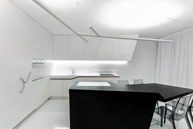 negro mobiliario conceptos soluciones ambientales encimeras