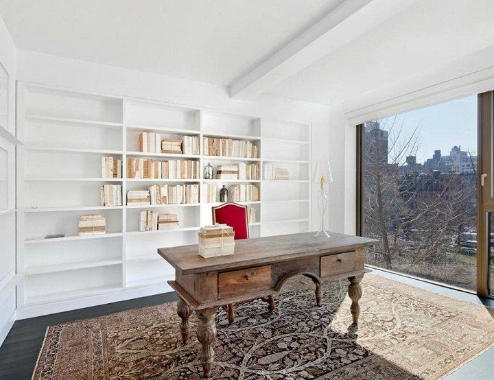 oficina apartamentos estantes blanco recogidas alfombras