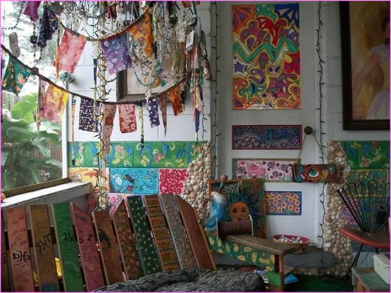 decoracion hippie aires desenfadados y llenos de color. Black Bedroom Furniture Sets. Home Design Ideas