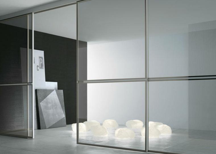 Puertas correderas de cristal para interiores con clase for Diseno puerta