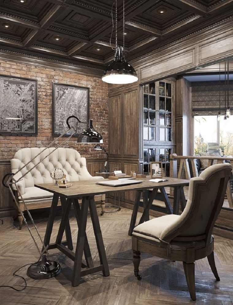 Decoraci n de despacho interior elegante y moderno 34 for Decoracion oficinas y despachos