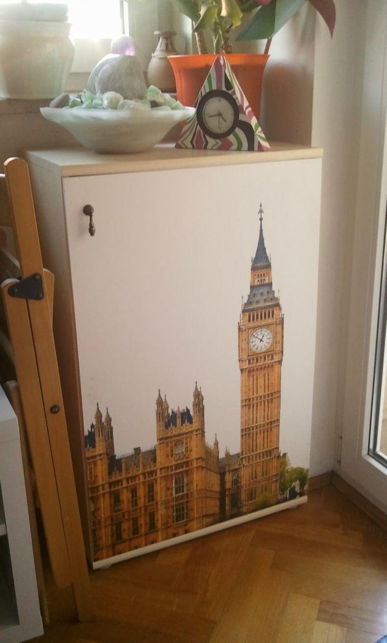 Papel pintado para muebles para decorar los interiores - Papel pintado armario ...