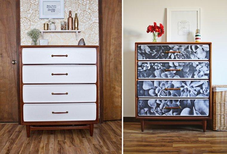 papel pintado para decorar muebles