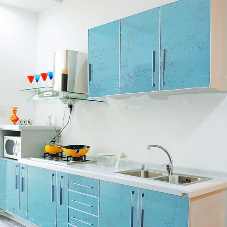 Papel pintado para muebles para decorar los interiores - Papel pintado para cocina ...