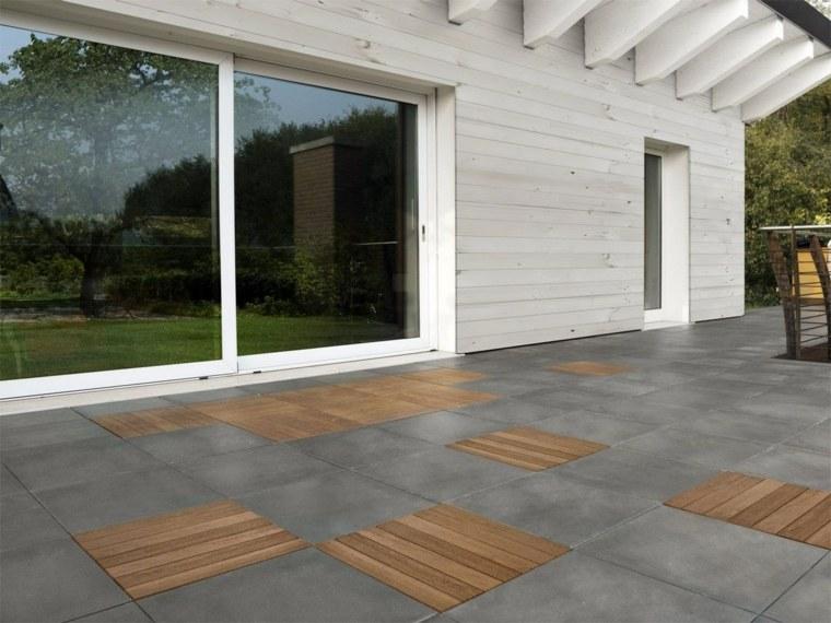 pavimentos exteriores combinacion materiales diseno ideas