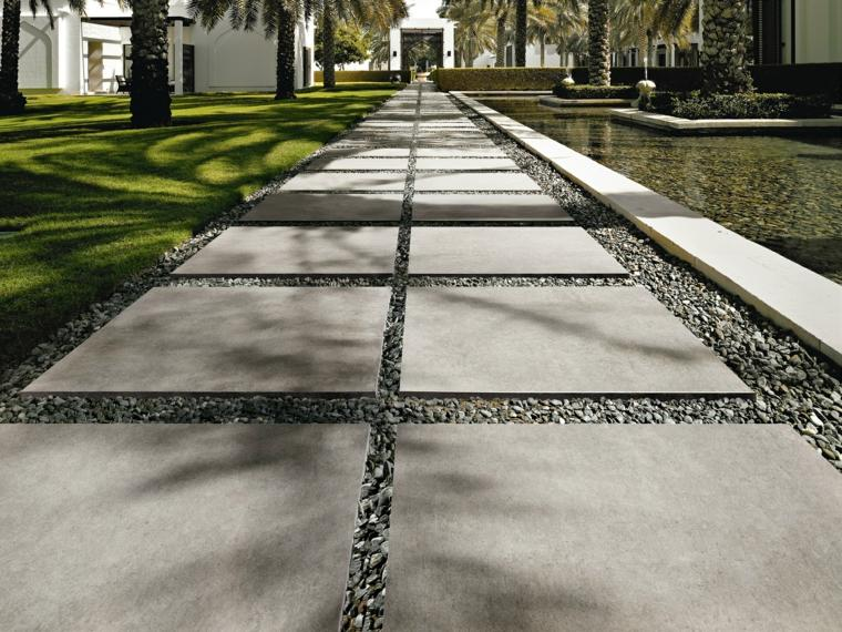 Pavimentos exteriores c mo escoger el material correcto - Pavimento jardin ...