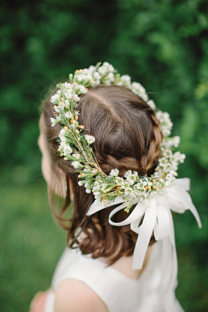 peinados para bodas corona flores estilo moderno ideas