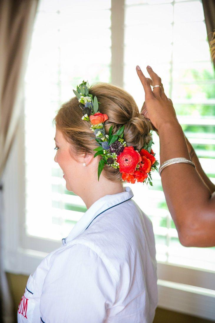 peinados para bodas flores primavera diseno estilo ideas