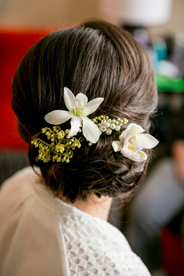 peinados para bodas flores recogido lado ideas