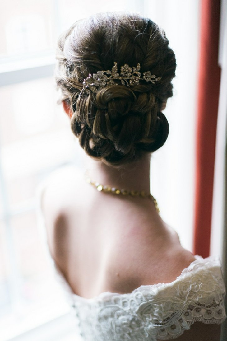 peinados para bodas recogido bajo detalle cristales ideas
