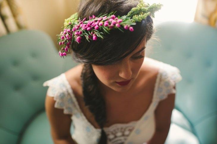 peinados para bodas trenza flores decoracion ideas
