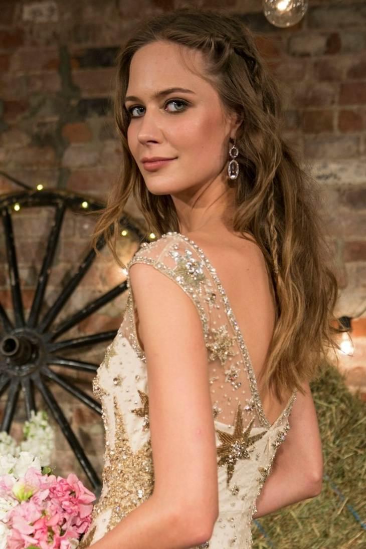 peinados para bodas jenny packham bridel pelo suelto ideas