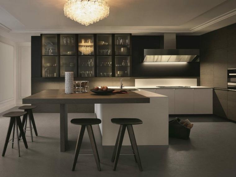 peninsla mesa comedor integrada perfecta paredes