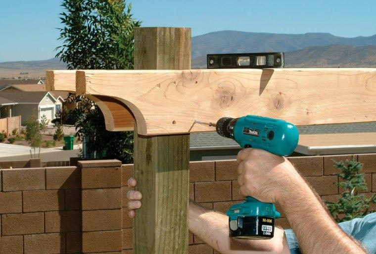 pergolas de madera construccion muebles exteriores ideas