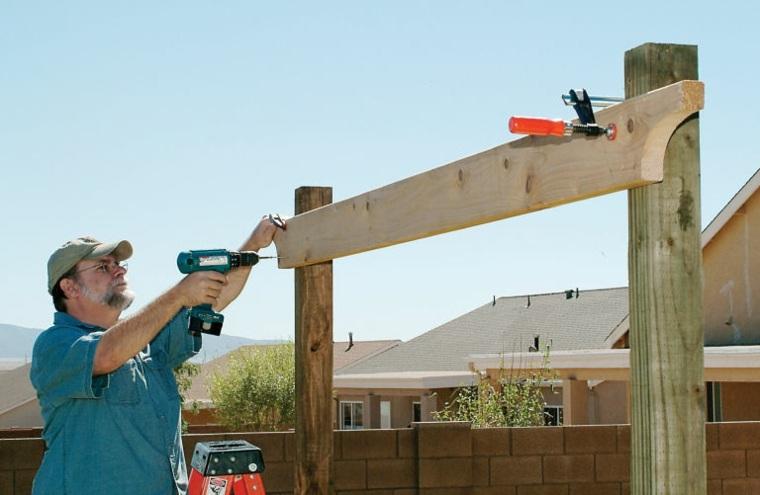 pergolas de madera construccion puentes colores techados