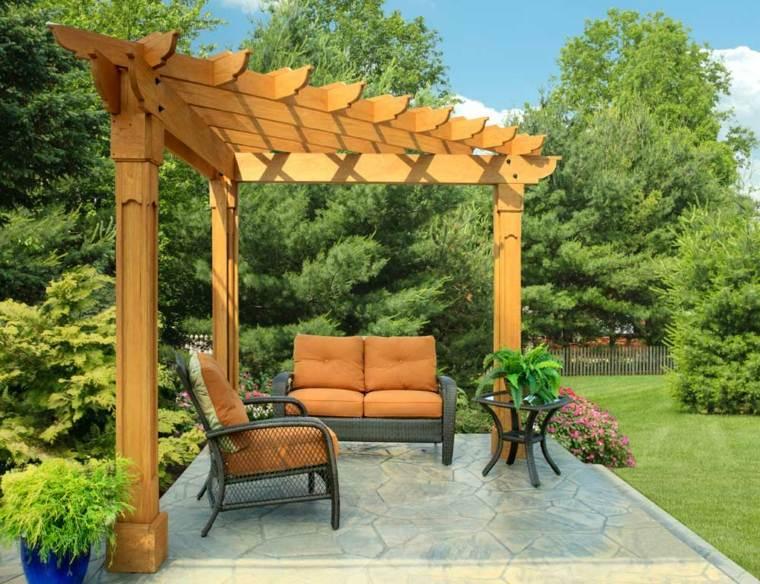 Pergolas en madera para la decoraci n moderna de la casa - Pergolas de madera valencia ...