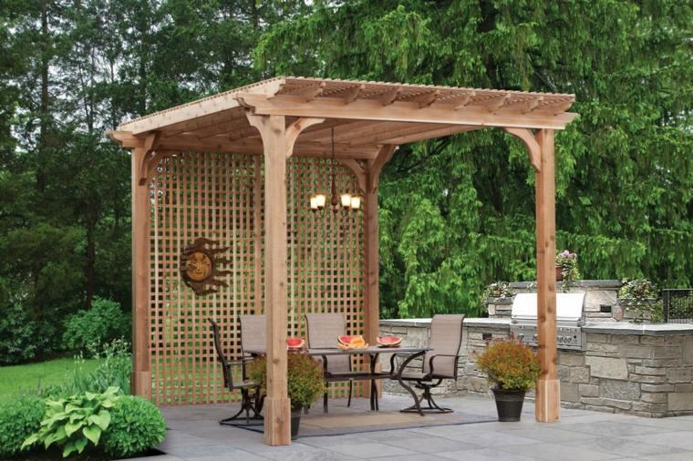 pergolas madera modernas decoracion casa