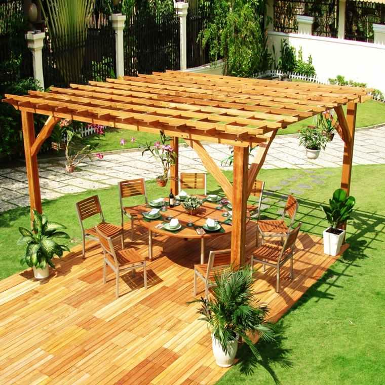 pergolas-modelos-patio-tradicional-comedor-decoraciones