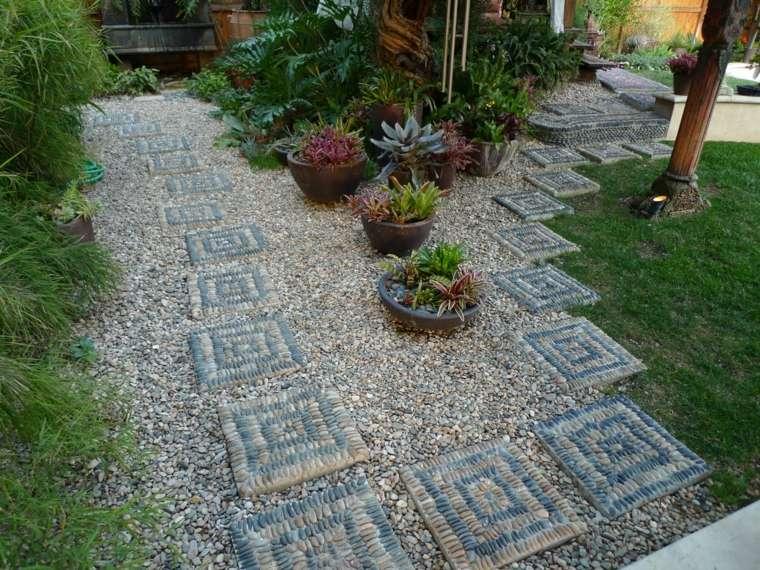 piedras decorativas jardin diseno estilo ideas