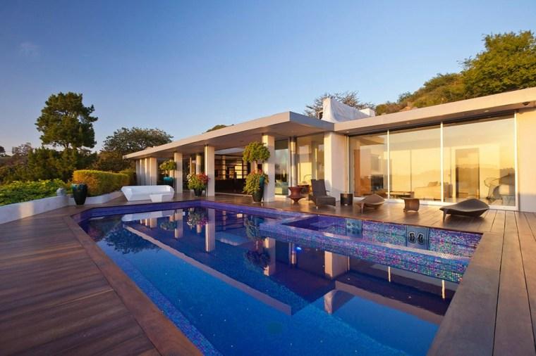 piscina mosaico bello brillante jardin ideas