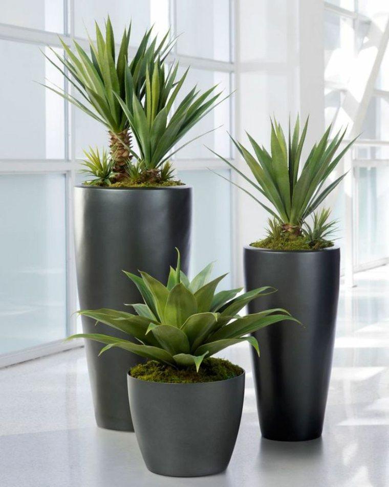 plantadores elegantes modernos espacios casa lineas