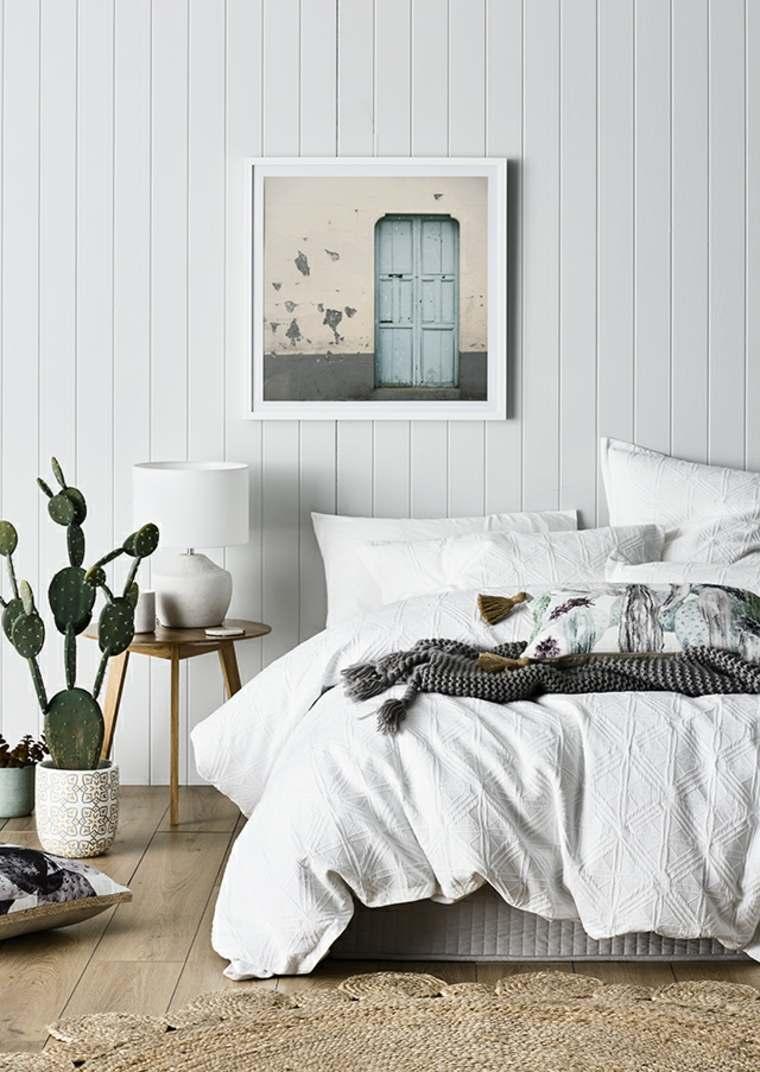 plantas de interior ideas cuadros paredes contrastes listones
