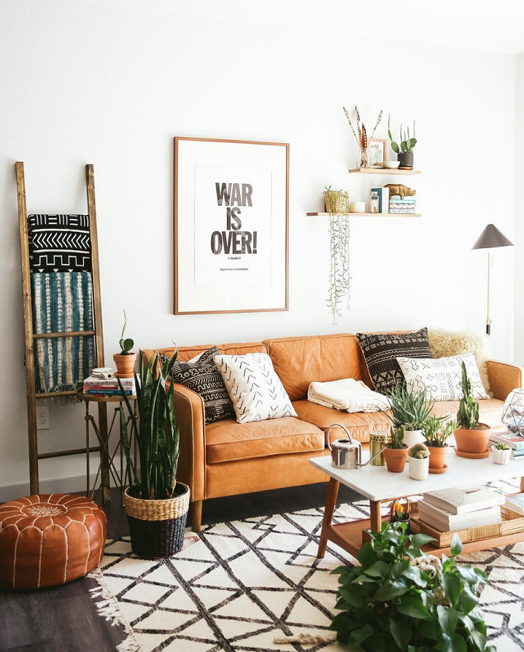 Plantas de interior ideas y consejos para usarlas en for Decoracion con plantas en living