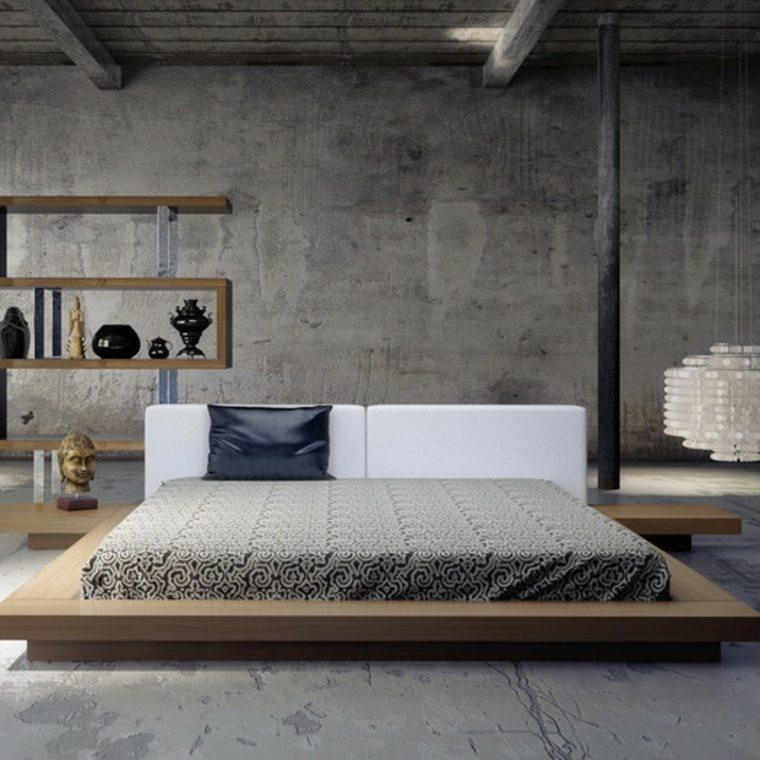 platafoma cabecero tapizado suelos grises parede