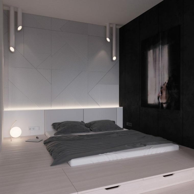 platafoma negro ambiente moderno color iluminaciones