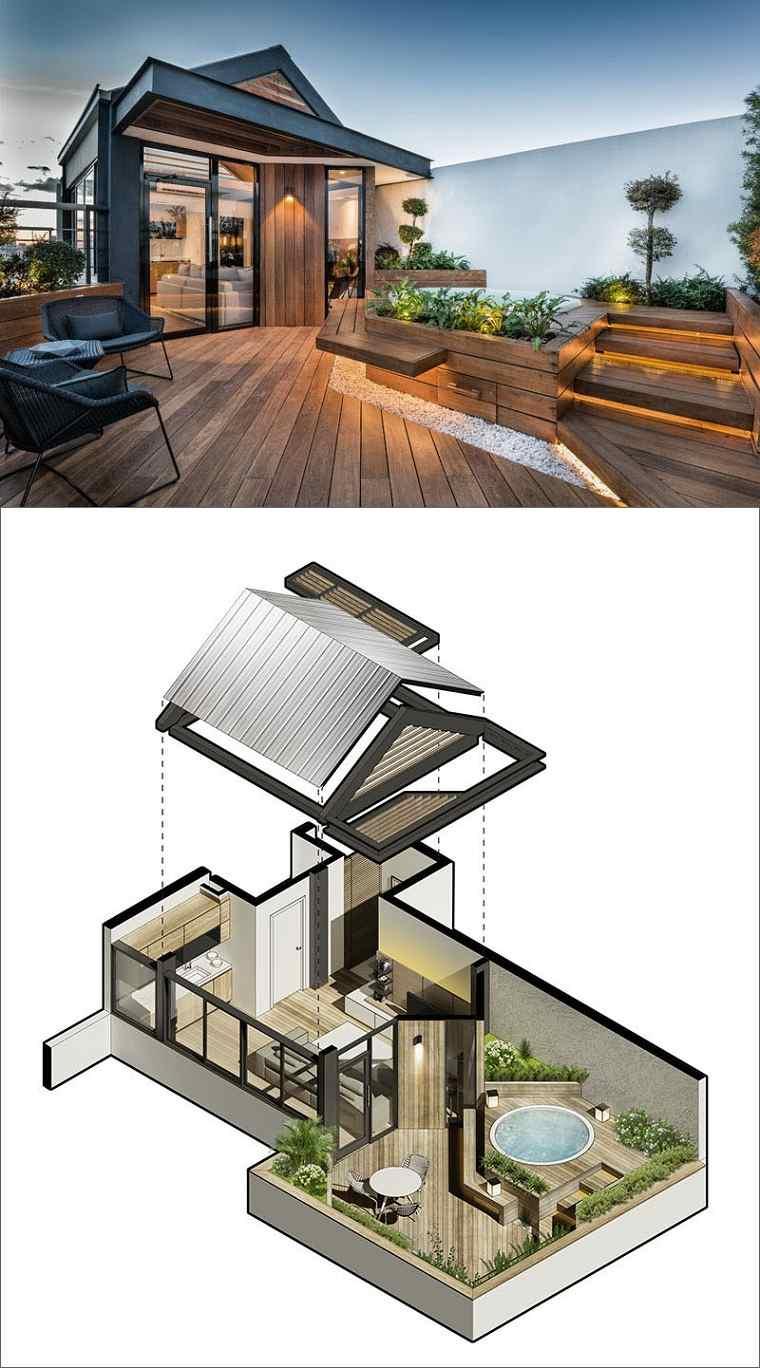 bonita terraza madera