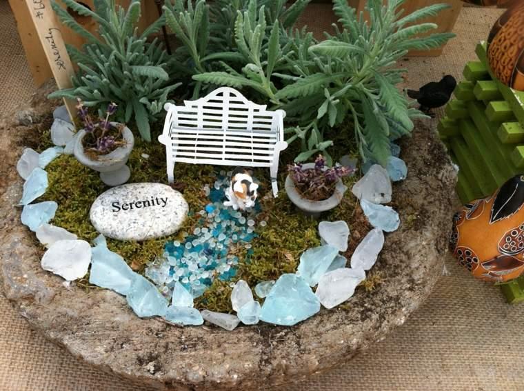jardín con piedras