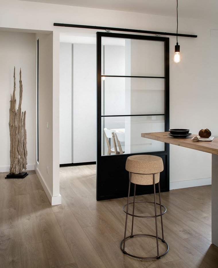 Puertas correderas de cristal para interiores con clase - Marco puerta corredera ...