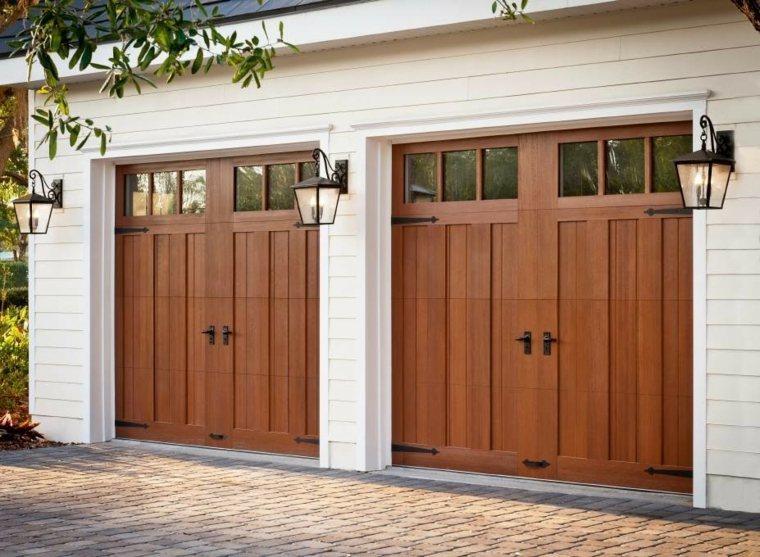 Puertas de garaje modernas y funcionales para la casa - Puertas para casas modernas ...