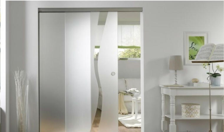 Puertas correderas de cristal para interiores con clase for Puertas interiores de vidrio para casas