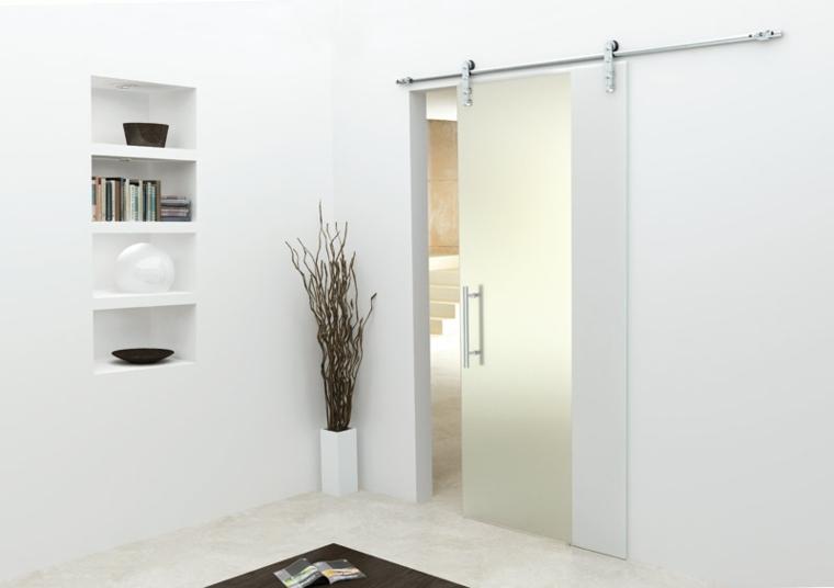 Puertas correderas de cristal para interiores con clase for Vidrios decorados para puertas interiores
