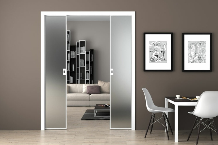 puertas correderas ideas cristal-conceptos-madera-fijos