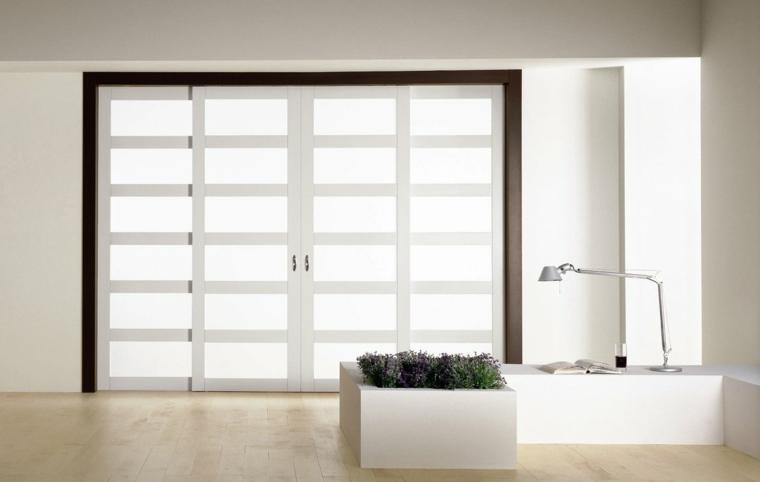 puertas correderas ideas fusionadas-paisaje-salones
