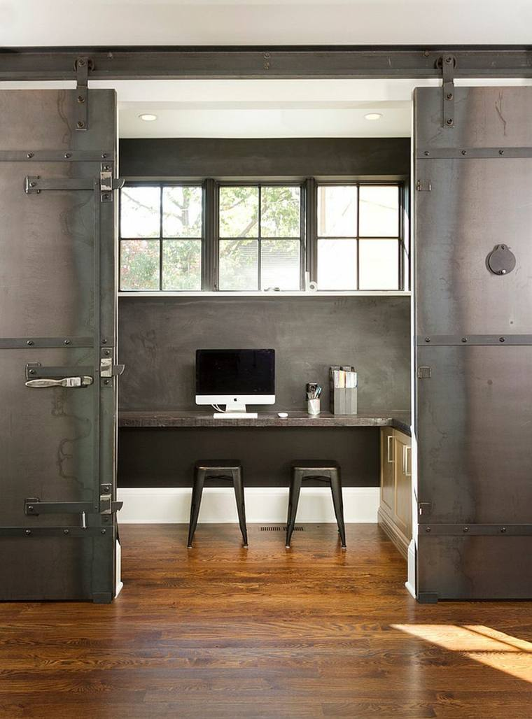 Puertas correderas ideas de modelos y consejos para - Puerta corredera industrial ...