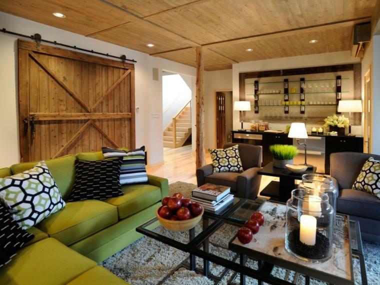 puertas correderas ideas madera-rustica-sencilla-coloridos