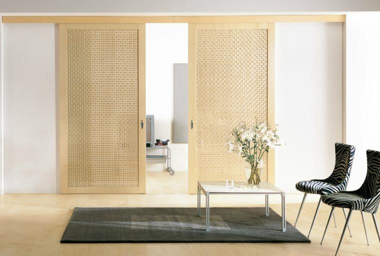 puertas correderas ideas separador-habitaciones-sillones