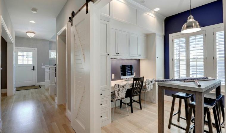 puertas correderas ideas separando-cocina-comedores-sillas