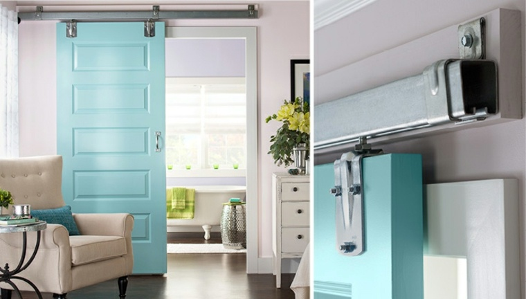 puertas-correderas-ideas-sillones-azules-exteriores
