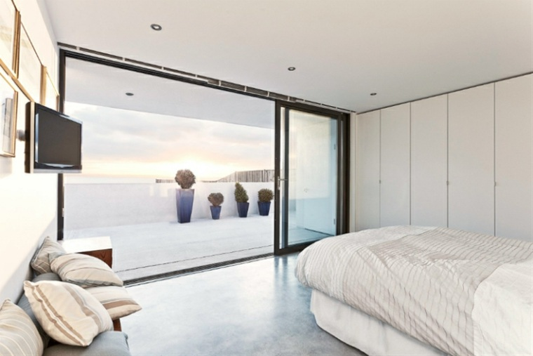terraza moderna puertas