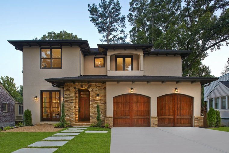 Puertas de garaje modernas y funcionales para la casa for Casa con garage laterale