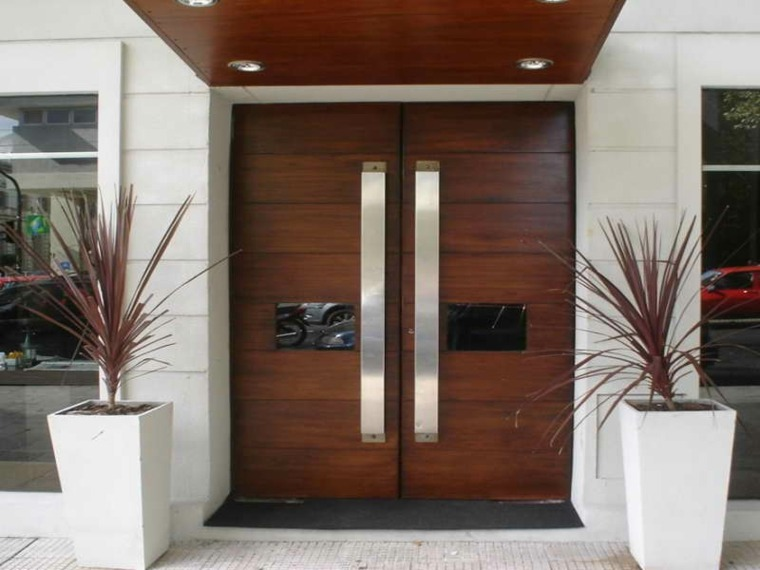 Puertas de madera para el interior y para la entrada de casa - Puertas de madera interiores modernas ...