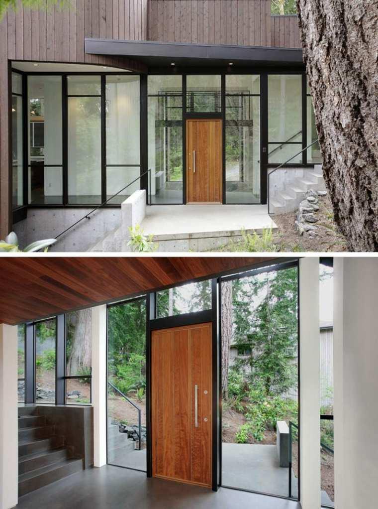 puertas de madera decorar interiores